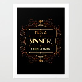 Bugsy - The Candy Coated Sinner Art Print