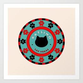 Katsino Las Vegas (animals cats) Art Print