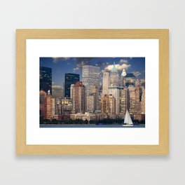 New York Manhattan Framed Art Print
