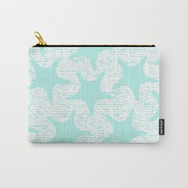 turquoise starfish pattern Carry-All Pouch