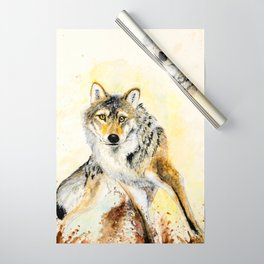 Totem Grey wolf Wrapping Paper