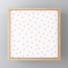 Simply Dots in Pink Flamingo Framed Mini Art Print