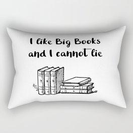 I like big books and I cannot lie Rectangular Pillow