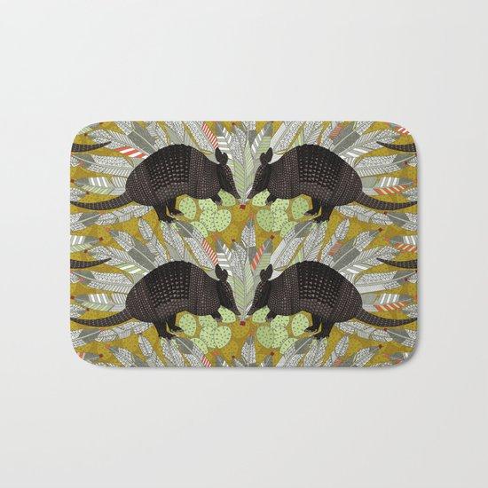 native armadillos gold Bath Mat