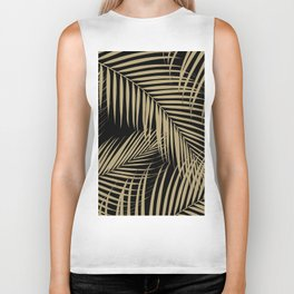 Palm Leaves - Gold Cali Vibes #9 #tropical #decor #art #society6 Biker Tank