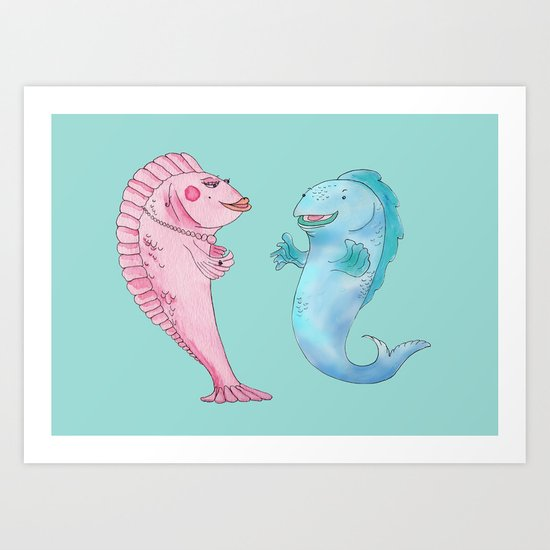 Larry and Lola Art Print