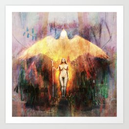 Freyja (Freya) - Goddess of Witchcraft Art Print