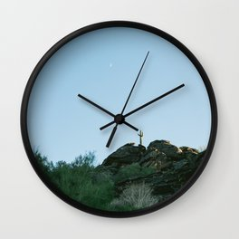 Arizona Desert Moon Wall Clock