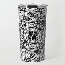 Black and White Ornate Pattern Travel Mug