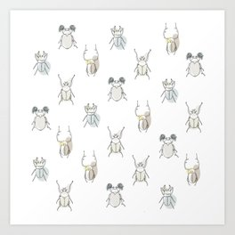 happy bugs Art Print