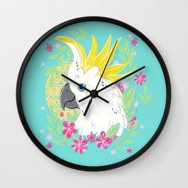 Sulphur Crested Cockatoo Wall Clock