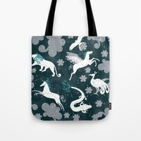 constellation Tote Bags featuring  Constellation  by Liluna
