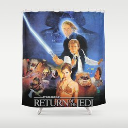 The Return Of The Movie Poster George Lucas Han Solo Luke Skywalker Shower Curtain