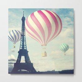 Hot Air Balloons in Paris Metal Print