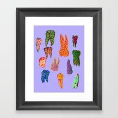 Teeth Framed Art Print