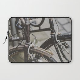 TWO BROWN AND BLACK COMMUTER__S BICYCLES Laptop Sleeve