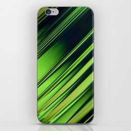Diagonal Stripes of Green and Black iPhone Skin