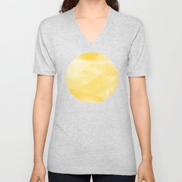 Yellow Unisex V-Neck