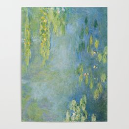 Water lilies by Claude Monet, 1906 Poster