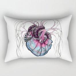 Butterfly Heart Blue Rectangular Pillow