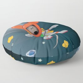Space Mouse floating in space Floor Pillow