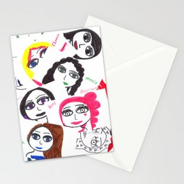 Character collage Stationery Cards