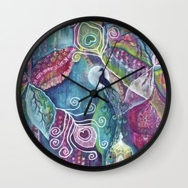 Sacred Temple and the Peacock King - Justine Aldersey-Williams 2012 Wall Clock