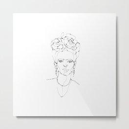 One Line - Frida Metal Print