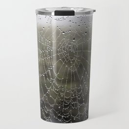 wet spider web Travel Mug
