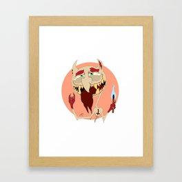 Half-Demon Framed Art Print
