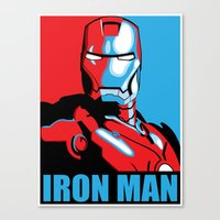 iron man Canvas Prints featuring Iron Man by C.Rhodes Design