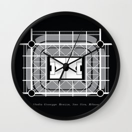 STADIA: San Siro (black) Wall Clock