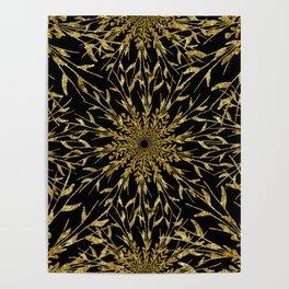 Black Gold Glam Nature Poster