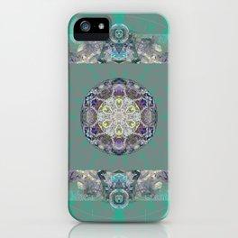 Heart Source Meditation Luminescent Green Boho Mandala iPhone Case