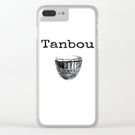 Tanbou(white) Clear iPhone Case