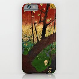 Flowering Plum Orchard (after Hiroshige) Japanese Motif by Vincent van Gogh iPhone Case