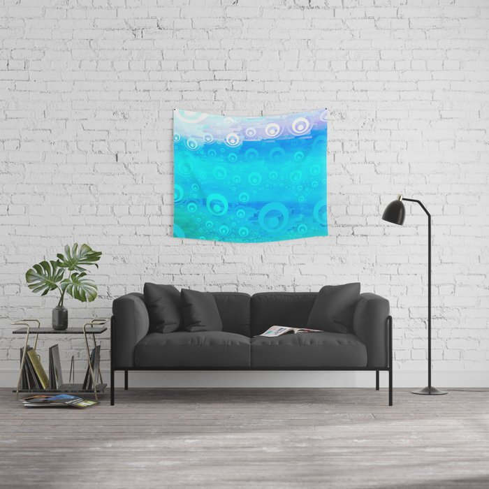 Blue Sky Bubble Pattern Wall Tapestry