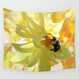 Busy Bumble Bee Wall Tapestry