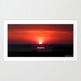 Sunrise in Gaspésie Art Print