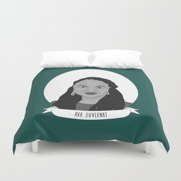 Ava DuVernay Illustrated Portrait Duvet Cover