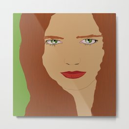 Red hair and Green eyes  Metal Print