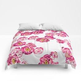 Pink Heaven #digitalart #floral Comforters