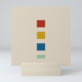 four elements || tweed & primary colors Mini Art Print