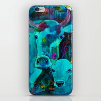 cows iPhone & iPod Skins featuring Cows by Silke Powers