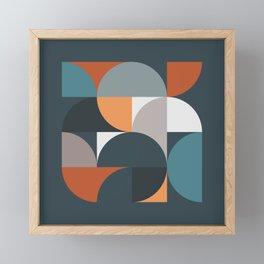 Mid Century Geometric 11/2 Framed Mini Art Print