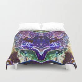 Abstract Trippy Waterfalls Duvet Cover