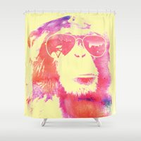 chill Shower Curtains featuring Chill by orangpalsu
