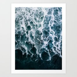 Minimalistic Veins in a Wave  - Seascape Photography Art Print