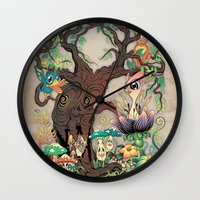 jungle Wall Clocks featuring JUNGLE by GEEKY CREATOR