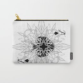 Tribal Mandala Watermark Ace of Spades Carry-All Pouch